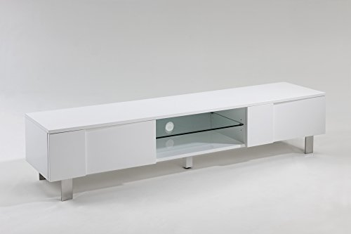 TV-Lowboard Fernsehtisch Fernsehschrank Hifi Rack TV-Board Hochglanz Weiß