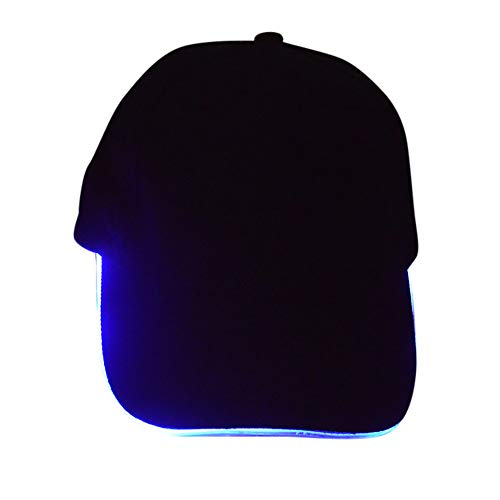 InvocBL Fashion Glow in The Dark LED Light Up Baseball Cap Unisex Luminous Snapback Hat blau (Hats Dark In Glow The)