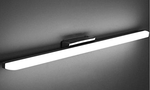 hyl Edelstahl LED Spiegel Lampe ist nicht gelocht einfache moderne wasserdichte Nebel Badezimmer Badezimmer Spiegel Schrank Lampe Make-up Wandleuchte ( Farbe : Weißes Licht-60 )