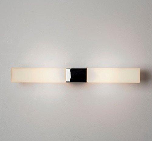 Astro Spiegelleuchte Padova Square Chrom Poliert Weiß IP44   28W   7028 - Square Bath Lighting