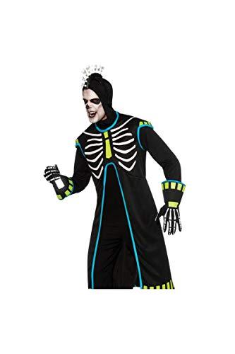 Squelette Homme Kostüm - Kostüm-Skelett Technoboy beleuchtet