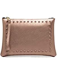 4d061bfae3 GUM POCHETTE NUMBERS MEDIA 4042 SATIN STUD NUDE MIS.M - MADE IN ITALY
