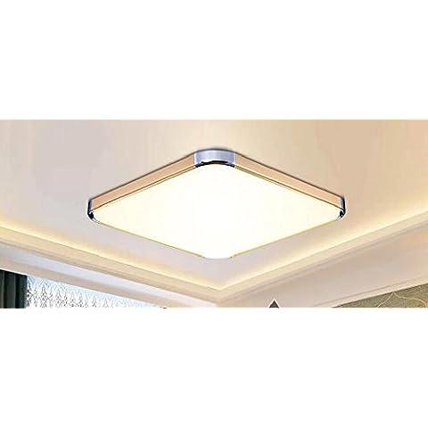 LYXG N. di poli di attenuazione stanza vivente lampada LED luce da soffitto moderno minimalista slim dome camera da letto lampada di illuminazione (450*450mm), nessuna polarità dimming