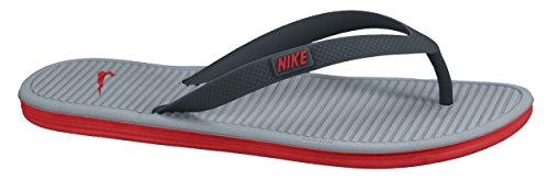 Nike Solarsoft Thong 2, Scarpe da Fitness Uomo Bianco / Rosso / Grigio (Clssc Charcl / Chllng Rd-Dv Gry)