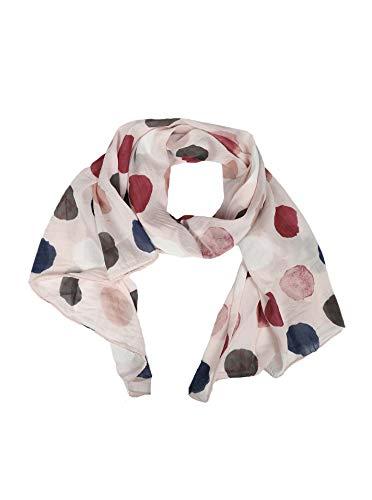 Cashmere Dreams Seiden-Tuch für Damen mit Punkt-Print von Zwillingsherz/Elegantes Accessoire für Frauen auch als Schal/Seiden-Schal/Halstuch/Schulter-Tuch oder Umschlagstuch einsetzbar (rose) (Seide Rote Rosen)