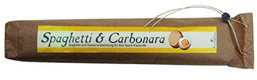 Spaghetti & Carbonara – Gourmet Geschenk – Spaghetti mit fertiger Saucen Mischung (560g) – zum Kochen oder Verschenken – von Feuer & Glas Glas-sauce-gerichte