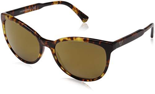 Emporio Armani Damen 0ea4101 56777d 56 Sonnenbrille, Braun (Blonde Havana)