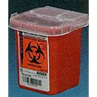 Kendall Sharps Container 1 Pint Red - Model 8901sa by Covidien-Kendall by Covidien /Kendall - Red Sharps Container