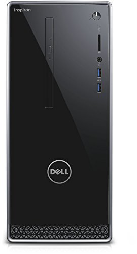 Dell Inspiron DT 3662  Desktop (Intel Pentium Processor J4205 , 1TB HDD, Intel HD Graphics, DVD RW, Win 10 Home 64bit German) schwarz mit silberbesatz