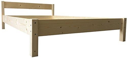 LIEGEWERK Futonbett mit Kopfteil Holz Bett Holzbett massiv 90 100 120 140 160 180 200 x 200cm, Hergestellt in BRD (180 cm x 200 cm)
