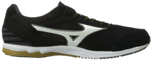Mizuno Wave Ekiden 8 Synthétique Chaussure de Course Black-White-Gold
