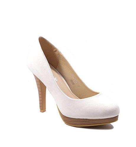 Jumex - Zapatos de vestir para mujer blanco Weiß, color blanco, talla 38 EU