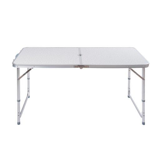 Topgoods Aluminium Campingtisch Aluminium Klapptisch Falttisch Gartentisch Esstisch klappbar höhenverstellbar (120x60 x55cm/70cm)