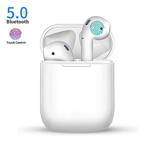 Casque d'écoute sans Fil Bluetooth 5.0 avec Réduction de Bruit Stéréo, écouteurs de Sport in-Ear, Casque HD Microphone pour Apple Airpods Android/iPhone 11