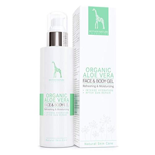 BIO-Aloe Vera Gel mit 99% reinem Aloe Vera Saft - NATURKOSMETIK VEGAN - 200 ml made in Austria by Mother Nature Cosmetics - hochwirksames, verwöhnendes Feuchtigkeitsgel für den Körper, klebt nicht -