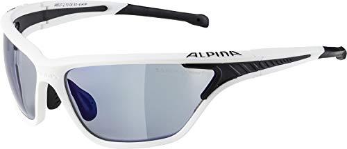 Alpina Sonnenbrille Glacier Eye-5 Tour VLM+ Sportbrille, white matt-black, One Size