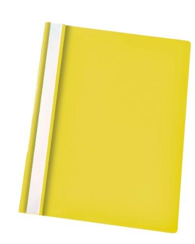 Rexel-cartellina per archiviazione, sottili, formato a4, confezione da 25 giallo