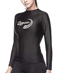 1f02f746a98f9 LAPASA Camiseta Deportiva de Manga Larga para Mujer con Protección Solar  UPF50 Filtro de protección UV