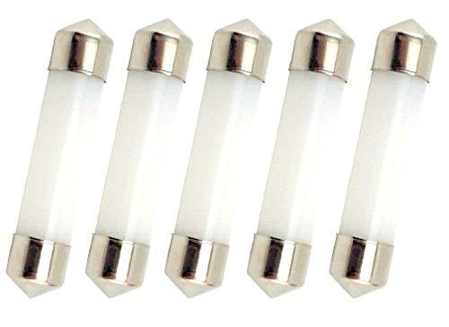 Bonlux 5-Stück 1W Warmweiße LED 42MM Innenraumbeleuchtung Festoon Kuppel LED Lampe 12V wie T3 LED-Lampe -