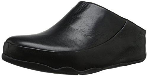 FitFlop Gogh Moc (Leather) Damen Hausschuhe Black (All Black)