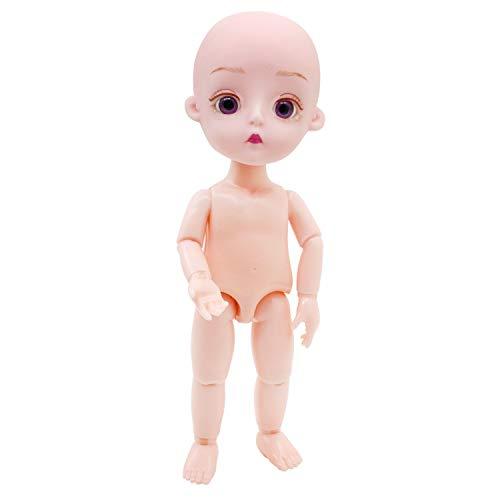 EVA BJD Naked Doll 1/8 15cm (5.9 ') Mini Muñecas, 12 + articuladas