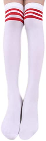 JUCOO Kids Girls Autumn Long Tube Socks Bright Sweet Candy Color Child Princess Thigh High Stockings School St