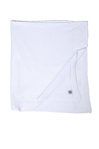 Erstlingsdecke / Babydecke / Strickdecke aus 100 % Baumwolle für Babyausstattung, Weiß, 70x80 - Delta MINUTUS (Vintage-babyausstattung)