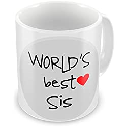 Ulta Anda Best Sister Ever - Crazy Sister Love - Siblings Life - Thank You Sis Quote Coffee Mug, 12 Oz, Perfect for Coffee and Tea Lovers - Great Cup for Him or Her At Home or Office