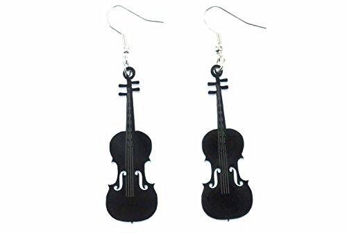 Geige Violine Ohrringe Hänger Miniblings Geigenohrringe Musik Bratsche schwz