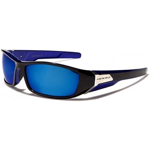 Occhiali da Sole Arctic Blue - Sport - Ciclismo - Sci - Moto - Arrampicata / Mod. Kite Bicolor Nero e Blu