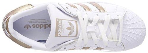 Scarpe Da Ginnastica Adidas Donna Superstar Con Avorio (ftwr Bianco / Cyber Met./ftwr Bianco)