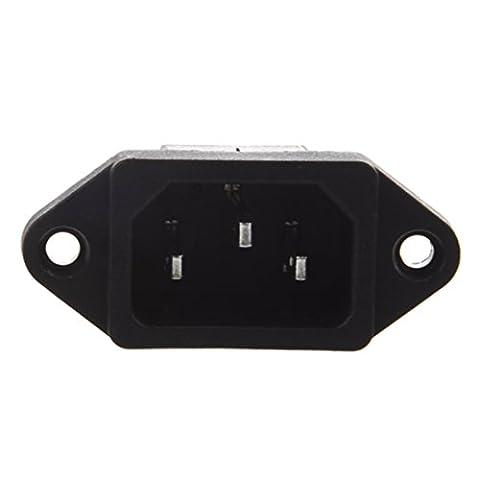 SODIAL(R) IEC 320 C14 fiche male 3 broches PCB Connecteur du panneau d'entree d'alimentation