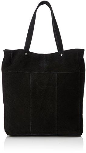 PIECES Damen 17086550 Henkeltasche, Schwarz (Black), 10x14x30 cm