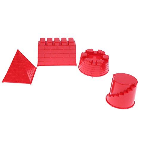 Baoblaze Kinder Burgen Schloss Sandformen Sandspielzeug zur Entwicklung von Kinder Hand-Auge-Koordination