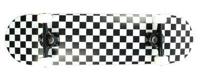 Krown Complete Skateboard Pro Checkered Black / White 8.0