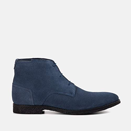 Goodwin Smith Mens Mojave Navy Suede Desert Boot (Navy Boot Blue Mens Suede Desert)