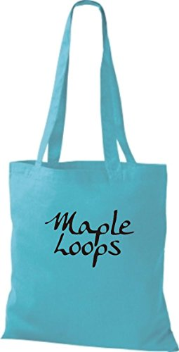 ShirtInStyle LOOPS sky A Jute Farbe blue Stoffbeutel HALF TWO AND diverse MAPLE MEN HHrFp