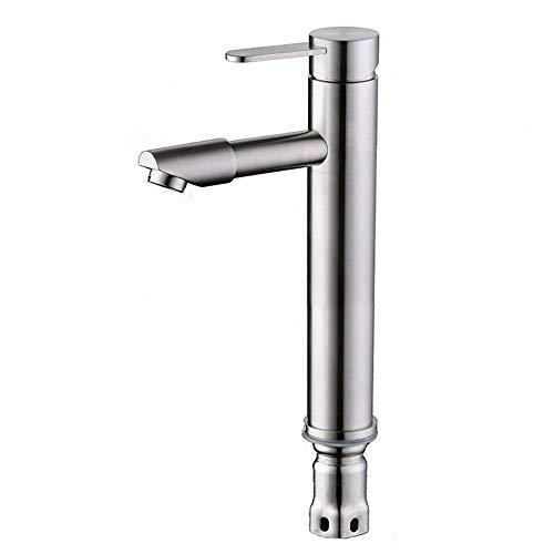 JYJSYM Bad Wasserhahn, erhöht, 304 Edelstahl, bleifrei, Drehbar, Einlochmontage, Warmes und Kaltes Wasser, Mundwasser, Waschbecken, Waschraum, Waschbecken, Hotel