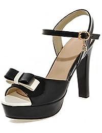 NVXZD Mujer Sandalias Confort Innovador Zapatos del club Zapatos formales Semicuero PU Verano OtoñoExterior Oficina y Trabajo Vestido Informal , black , us4.5 / eu36 / uk3.5 big kids