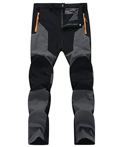 LY4U Hombres Senderismo Ciclismo Pantalones elásticos