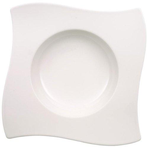 Villeroy & Boch 10-2525-2709 Assiette Creuse Porcelaine Blanc 24,5 x 24,5 x 8,5 cm 1 Assiette