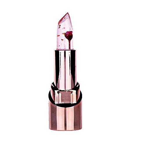 WOZOW Rossetti Lucidalabbra Beauty Bright Flower Crystal Jelly Lipstick Labbra magica di colore di cambiamento di temperatura