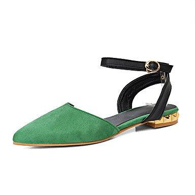 Verde Cinza pu Vestido Verde Heel Fleece Flat Sandália Ocasional Outro Lvyuan outddor Preto Vermelho q7xRFwwO