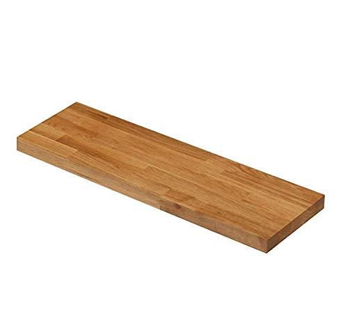 Étagère flottante en bois de construction en chêne massif - disponible en différentes tailles (600 mm X 200 mm X 30 mm)