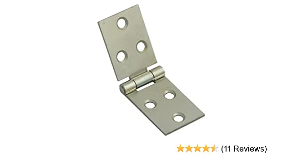 6 PAIRS NEW FLAT CONCEALED HINGE EB BRASS PLATED STEEL 63MM X 29MM WITH SCREWS