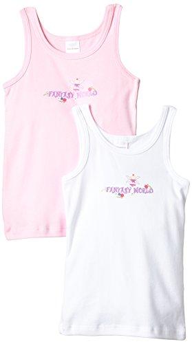 Schiesser Mädchen Unterhemd Set: Hemd 0/0 2 Stück, 2er Pack, Gr. 128, Mehrfarbig (sortiert 1 901) (Set Feen-pyjama)
