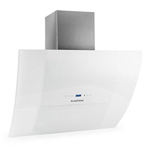 Klarstein RGL90WH Monté au mur Blanc 1000m³/h - hottes (1000 m³/h, Conduit,...