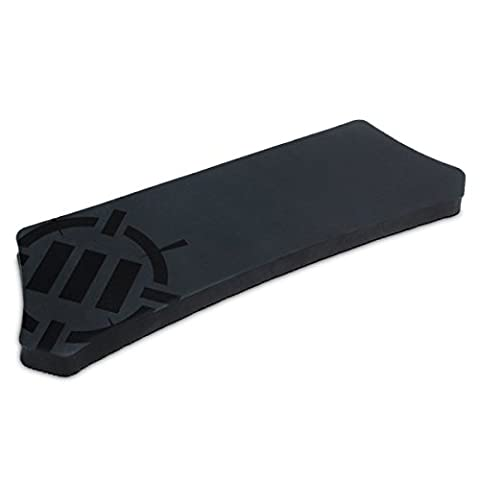 Wrist Rest Pad For Gaming Keyboards - Tenkeyless Mechanical Keyboards with Ergonomic Support , Non-Slip Rubber Backing , No-Fray Design by ENHANCE - Great with Razer DeathAdder , VicTsing , Corsair , CM Storm , Logitech and more
