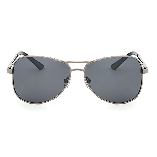 Kostüm Klassische Männer - Sonnenbrillen Mode Neue Polarisierte Sonnenbrille Pilot Männer Kostüm Designer Klassische Schutz Metall Sonnenbrille Fahren Gläser UV400 (Color : Gun Gray)