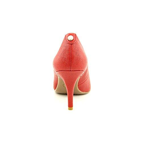 Decolletè Michael Kors modello MK-Flex Mid Pump in pelle saffiano rosso Rosso
